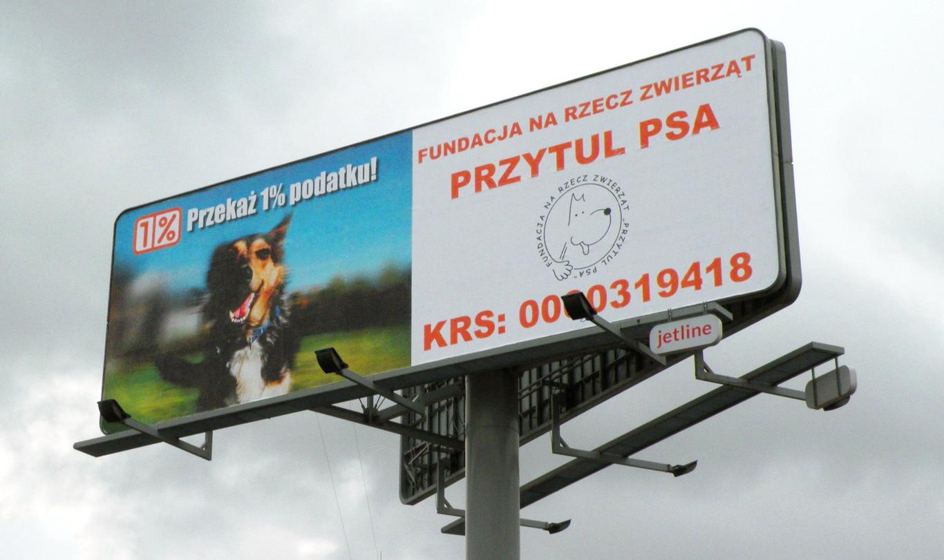 """1% DLA ZWIERZAKÓW – przykład kampanii Fundacji """"Przytul Psa"""""""