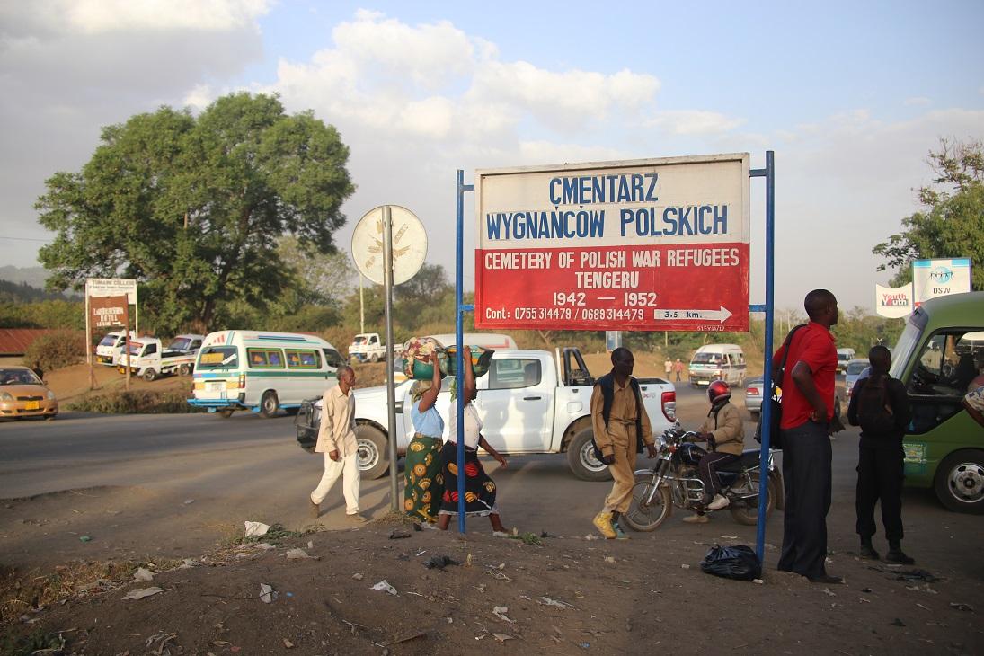 Polski billboard wewschodniej Afryce