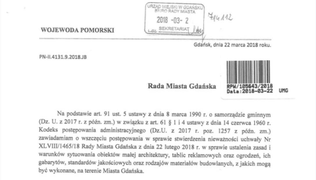 Gdańsk bez uchwały krajobrazowej?