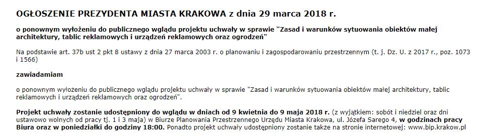 Uchwała krajobrazowa w Krakowie