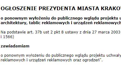 uchwała krajobrazowa Kraków