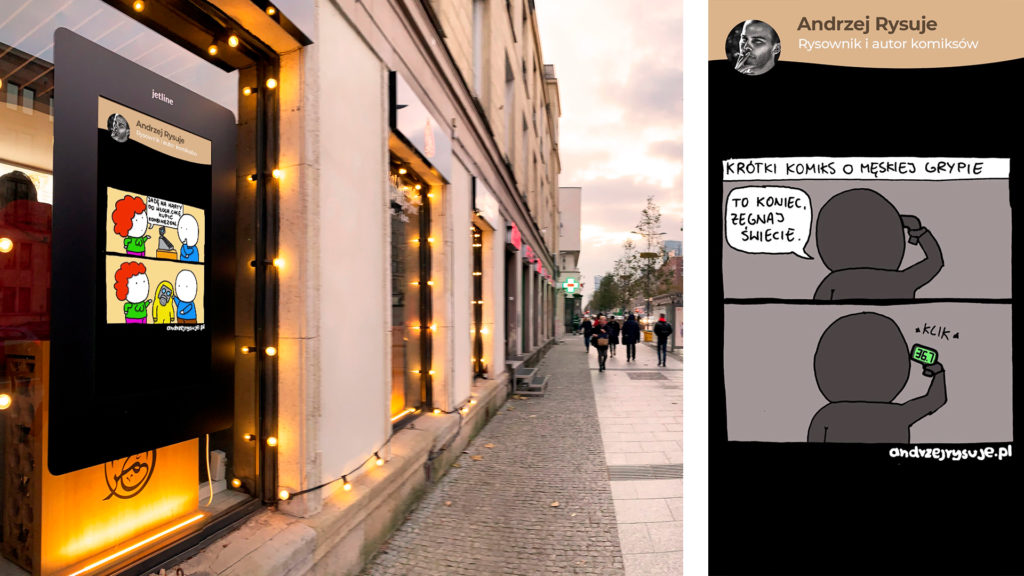 ekrany more w mieście