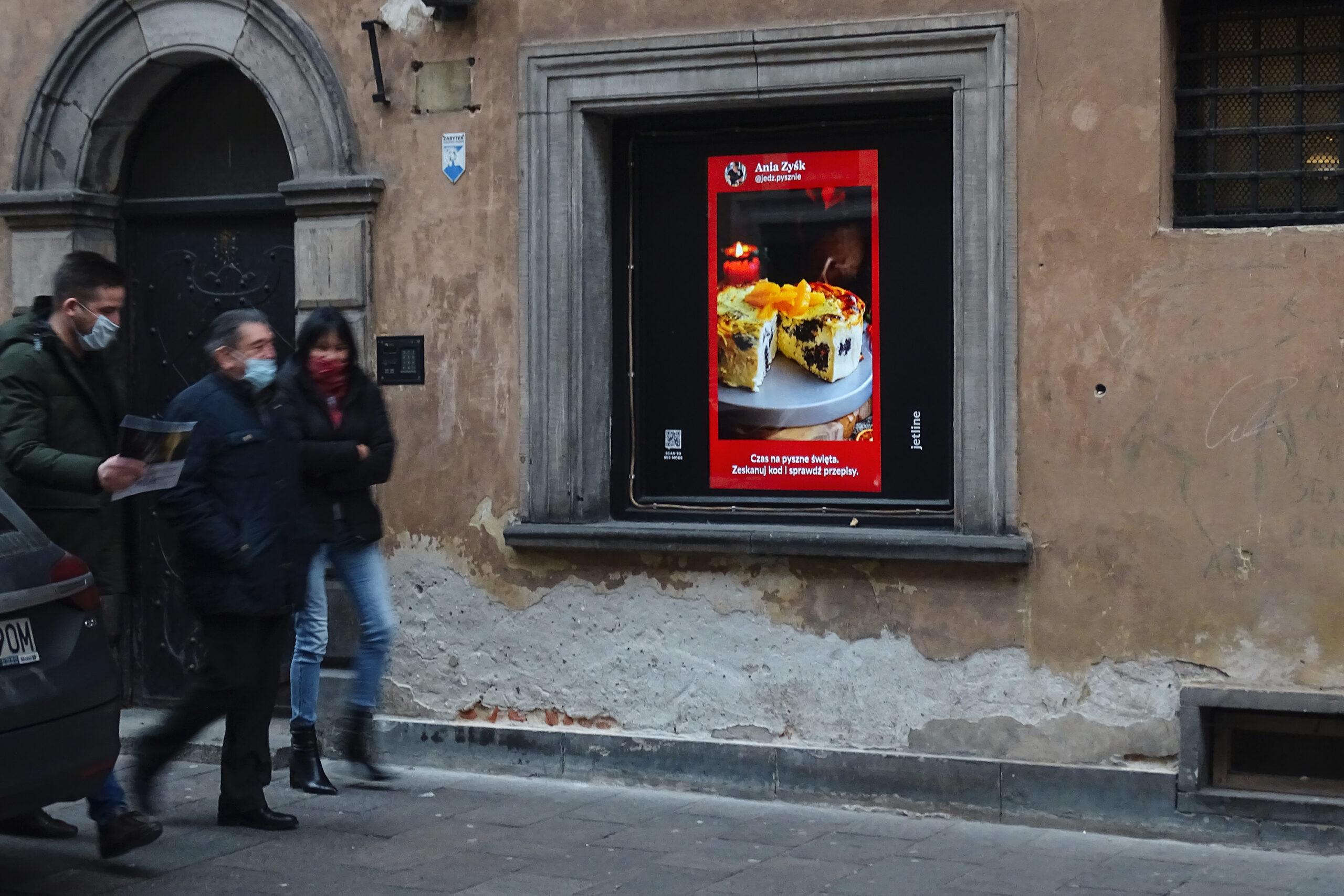 W Jet Line na ekranach: kulinarny romans DOOH z pandemią w tle